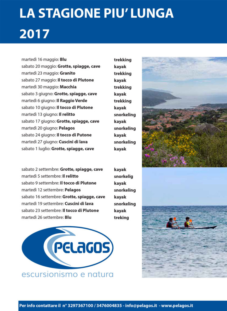 Escursioni Pelagos 2017