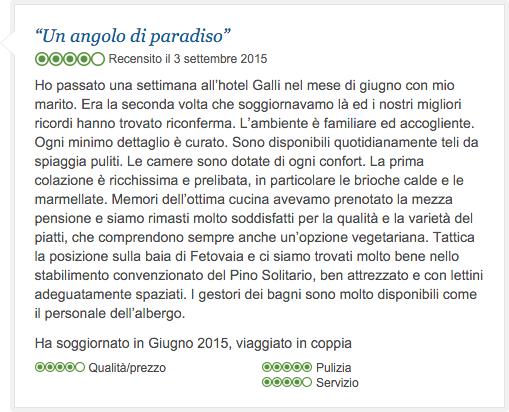 Recensione Hotel Galli