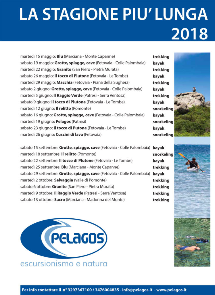 Escursioni Pelagos 2018
