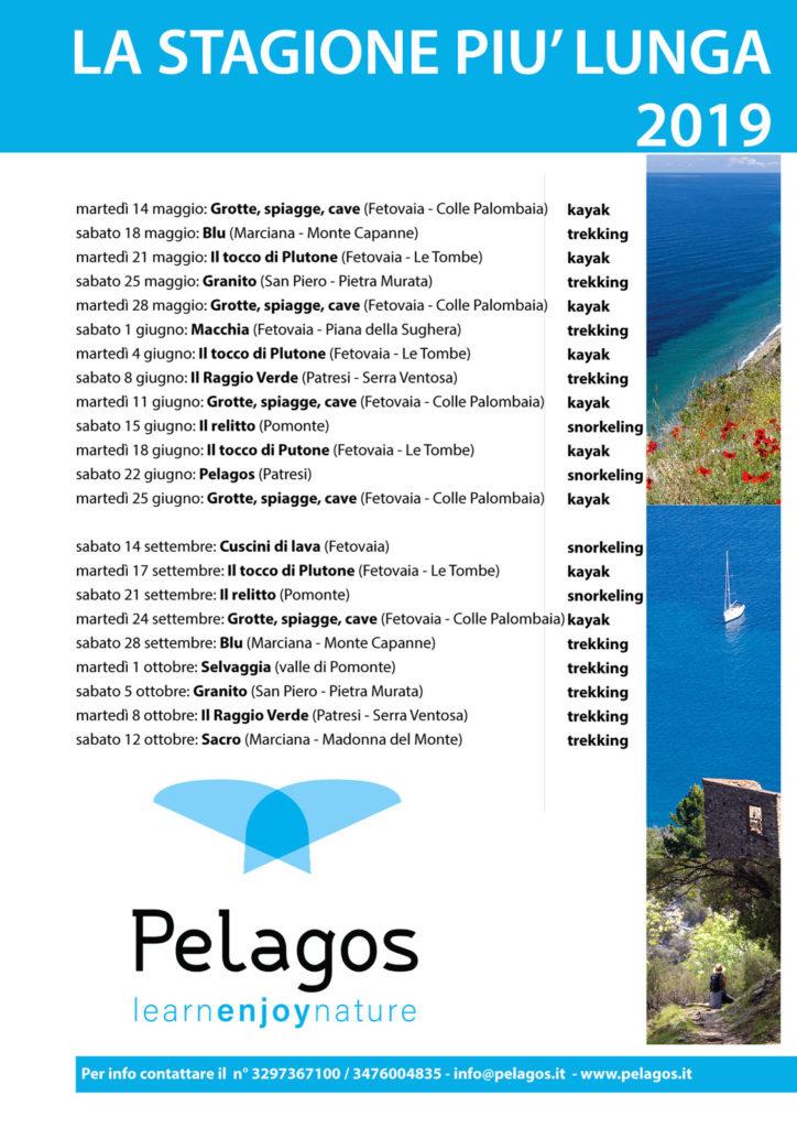 Escursioni Pelagos 2019