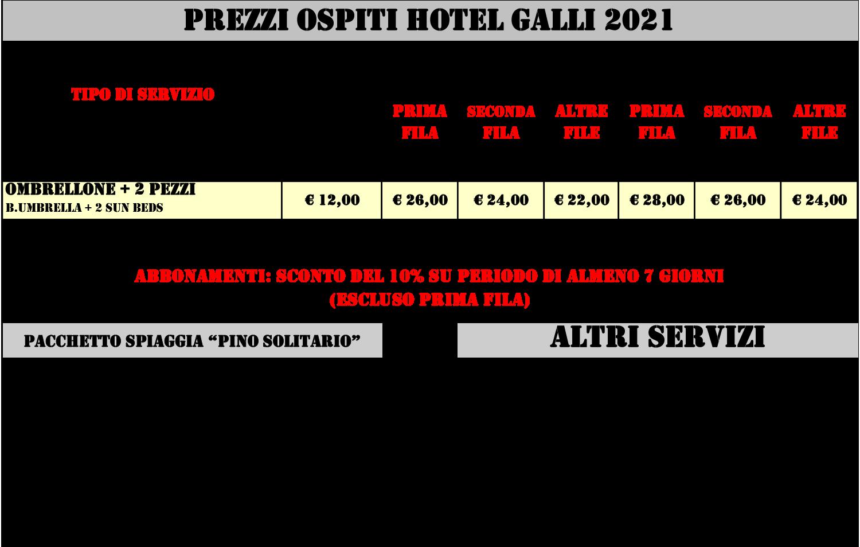 Prezzi Pino Solitario 2021